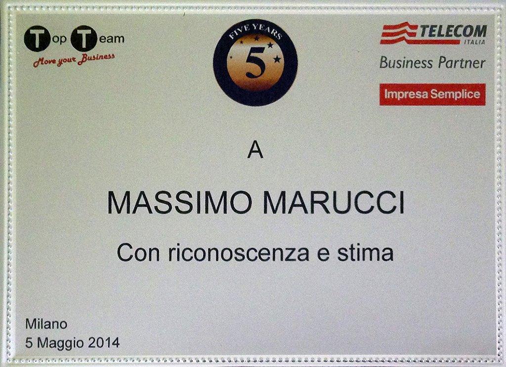 Massimo Marucci e Top Team